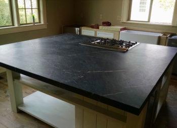 Custom Slate Kitchen Island