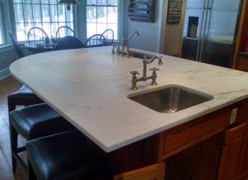 Custom Marble Island Dual Sink