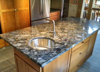 Custom Granite Island with Sink